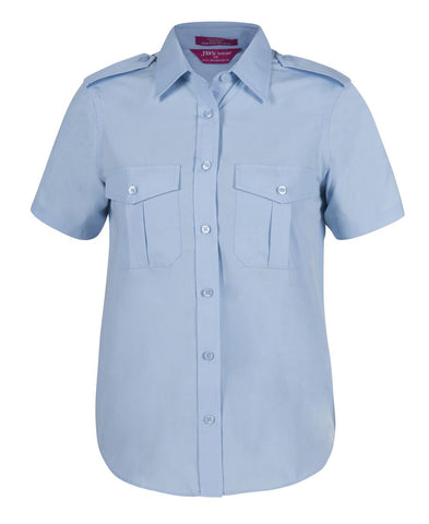 JB WEAR LADIES EPAULETTE SHIRT SS