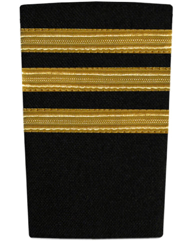 EPAULETTES - THREE BAR - GOLD