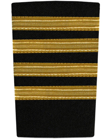 EPAULETTE - FOUR BAR -  GOLD