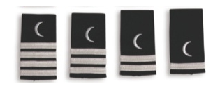 EPAULETTES SILVER MOON - STEWARDESS