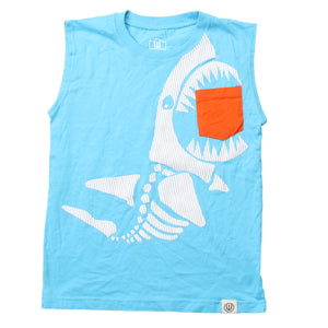 Toddler Boys Shark Muscle Tee by Wes & Willy