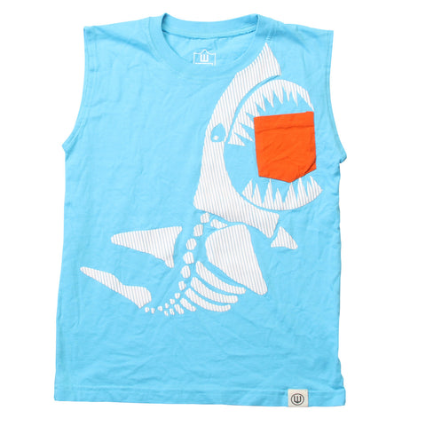 Shark Bite Muscle Tee