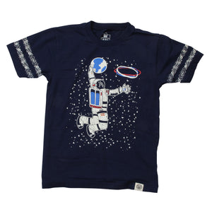 Wes & Willy Boys Glow in the Dark Astronaut Tee