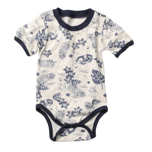 Hawaiian Floral Baby Onesie, Tropical, Wes and Willy