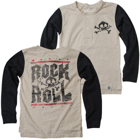 Rock & Roll Slub Henley - Clearance!