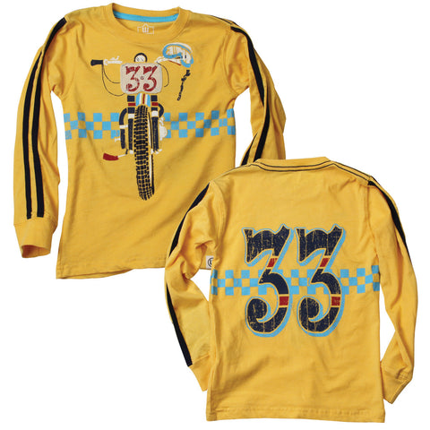 Dirt Bike Yellow Tee - Clearance!