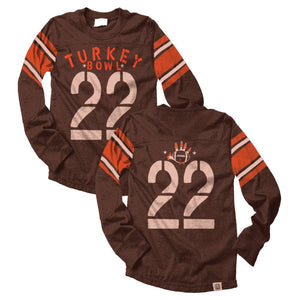 Turkey Bowl Thanksgiving Jersey Tee