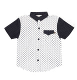 Fore Axel & Hudson Boys Dog Print Shirt