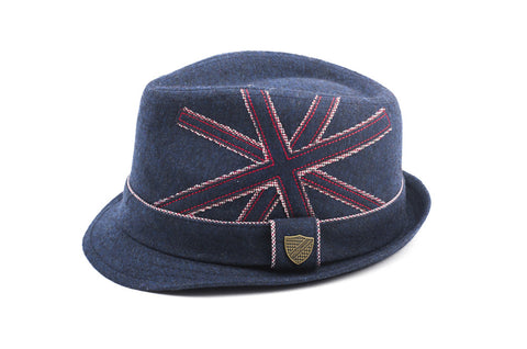 Union Jack Trilby Hat - Clearance!