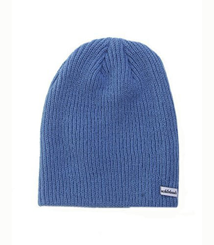 Knit Slouchy Beanie, Blue - Clearance!