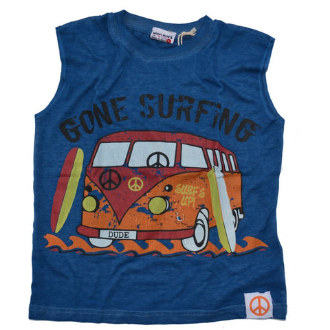 Gone Surfin' VW Bus Muscle Tee