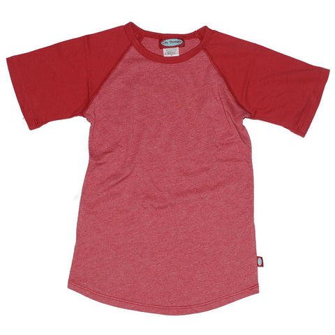 City Threads Solid Red Raglan Boys T-shirt