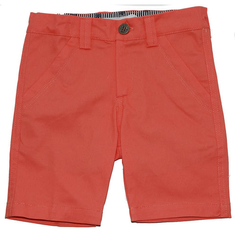 Toddler Boys Coral Twill Shorts