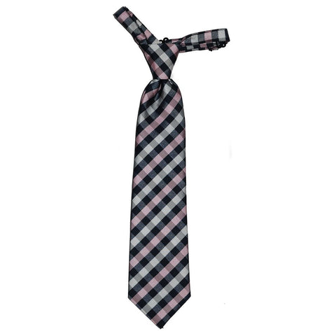 Troy James Boys Gingham Neck tie