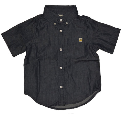 Dark Chambray Cotton Shirt
