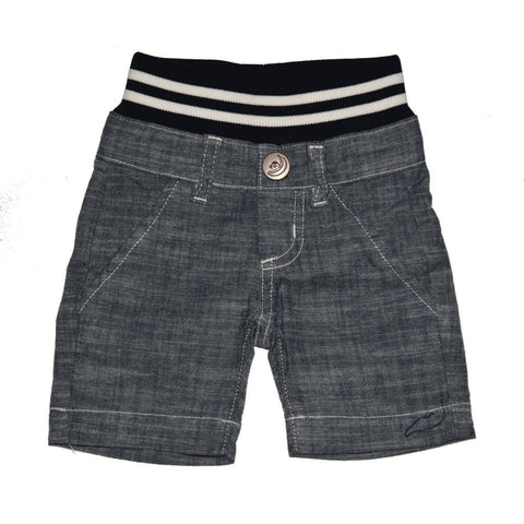 Chambray Cotton Shorts