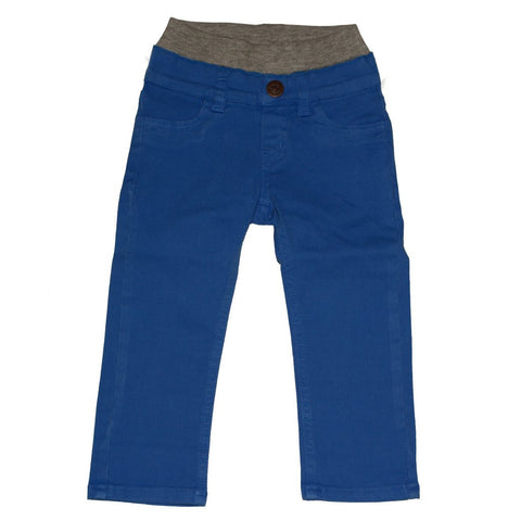 Coral Blue Twill Pull-on Pants - Clearance!