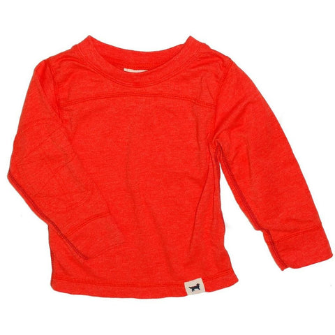 Ultra Soft Orange Long Sleeve Boys T-shirt