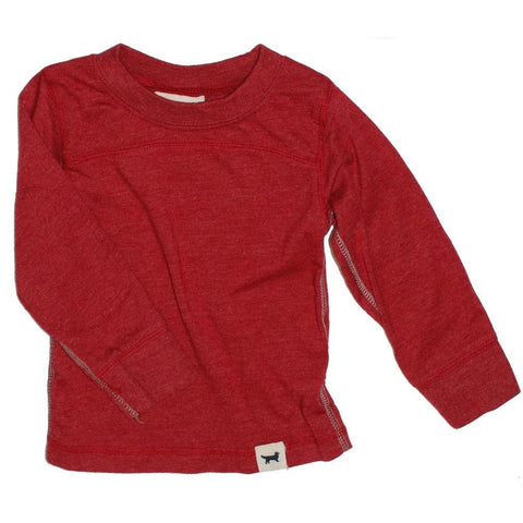 Ultra Soft Red Long Sleeve Boys T-shirt