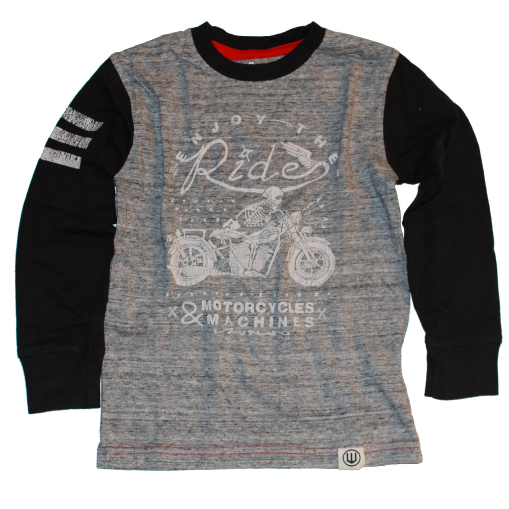 "Motorcycle ""Enjoy the Ride"" Long Sleeve Boys Tee"