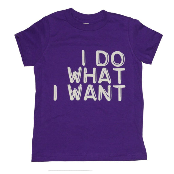 I Do What I Want T-shirt, Purple