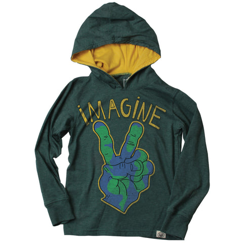 """Imagine"" Tee with Hoodie - Clearance!"