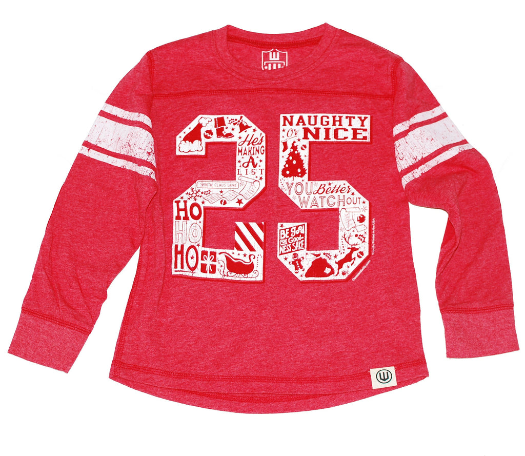 Boys Christmas Jersey Style T-shirt, Claus 25