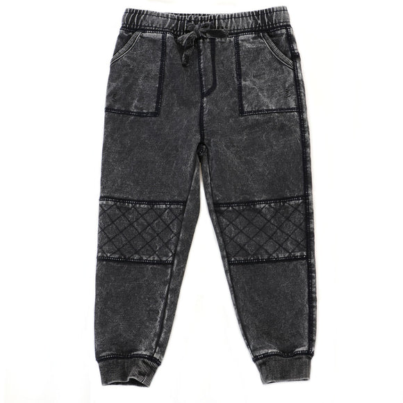 Knit Washed Biker Jogger
