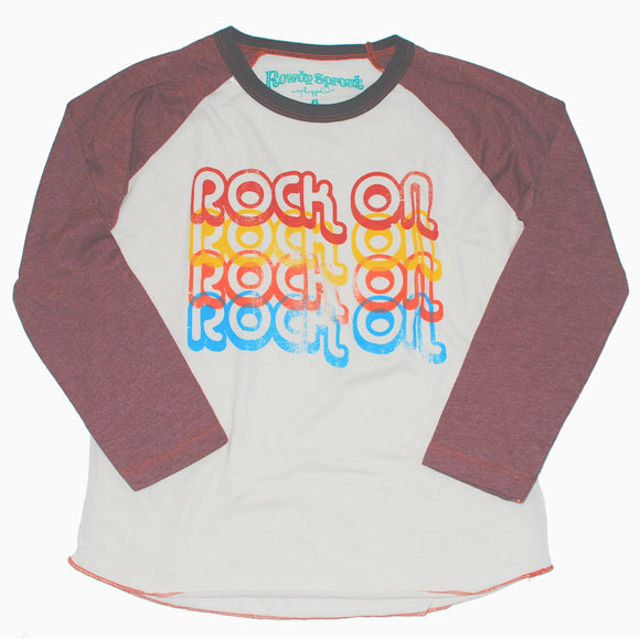 Rock On Boys Raglan T-shirt