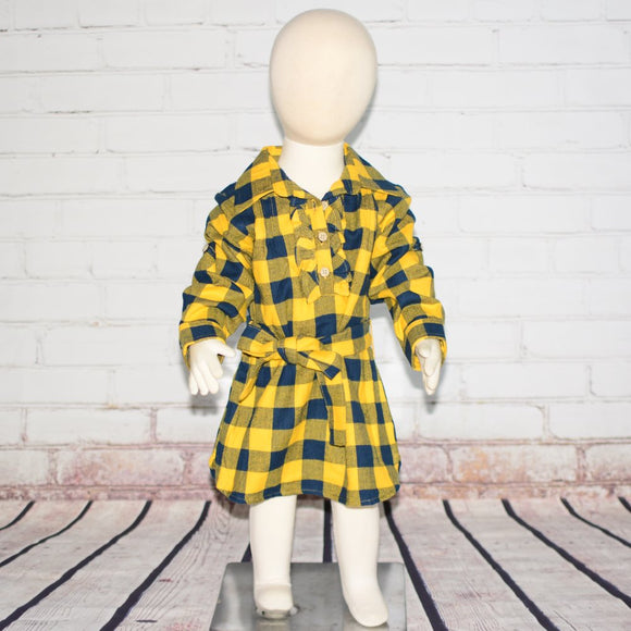 Mustard Buffalo Plaid Shirt Dress (for Sister!)