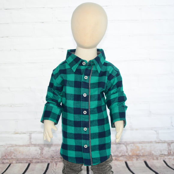 Emerald Buffalo Plaid Button Down Shirt