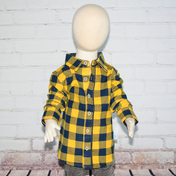 Mustard Buffalo Plaid Button Down Shirt - Clearance!