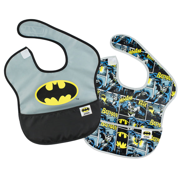 Batman Waterproof Bibs, 2-pack