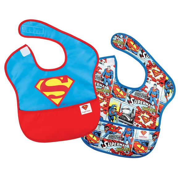 Superman Waterproof Bibs, 2-pack