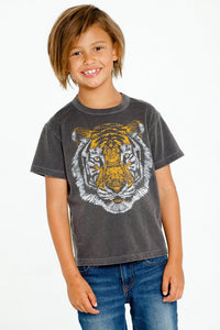 Chaser Kids Black Tshirt - Tiger Face