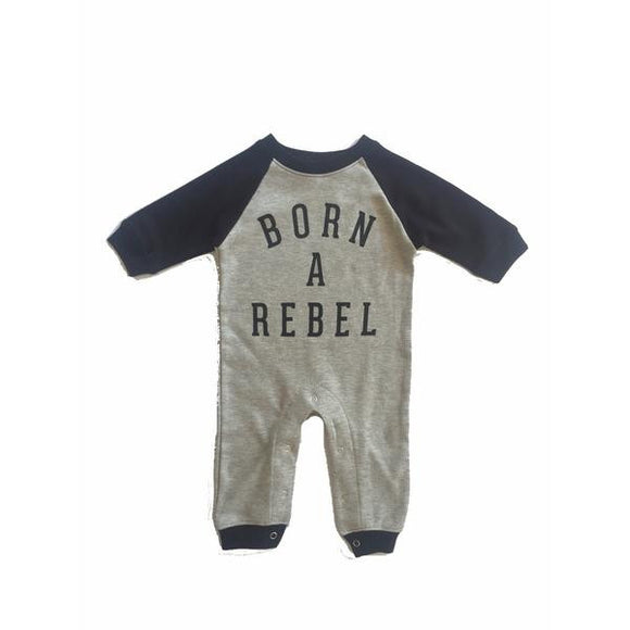 Trilogy Design Baby Boys Born a Rebel Romper