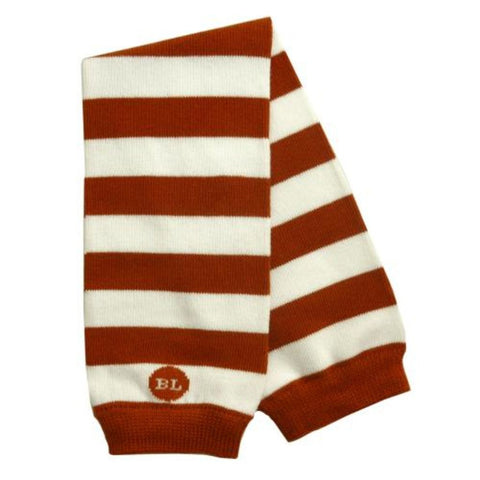 Burnt Orange Baby Boy Legwarmers – striped