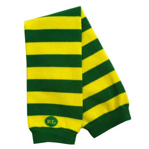 Yellow/Green Baby Boy Legwarmers – striped