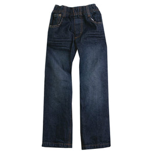Wes & Willy Boys Premium Jeans, Elastic Waistband, front flat view
