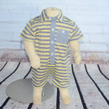 Stripe Chambray Baby Romper