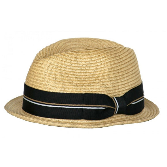 Toddler Boys Straw Fedora, summer hat