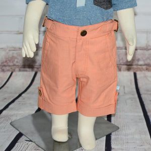 Orange Cuffed Shorts - Clearance!