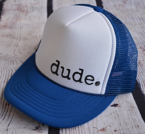 Dude Trucker Hat - Blue