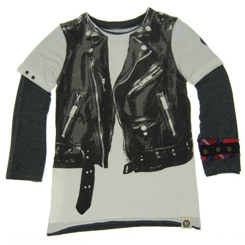 Mini Shatsu Motorcycle Vest Shirt, Front