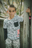 Mini Shatsu Graffiti Layered Shirt, Model