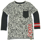 Mini Shatsu Graffiti Layered Shirt, Front