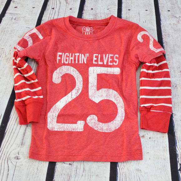Fightin' Elves Christmas Jersey Tee