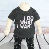 I Do What I Want Graphic Tri-Blend Tee