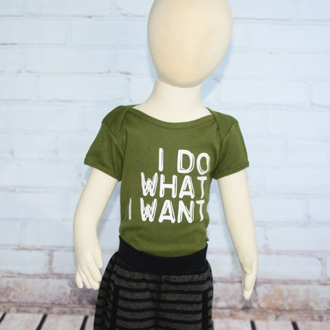I Do What I Want Tee or Onesie, Olive