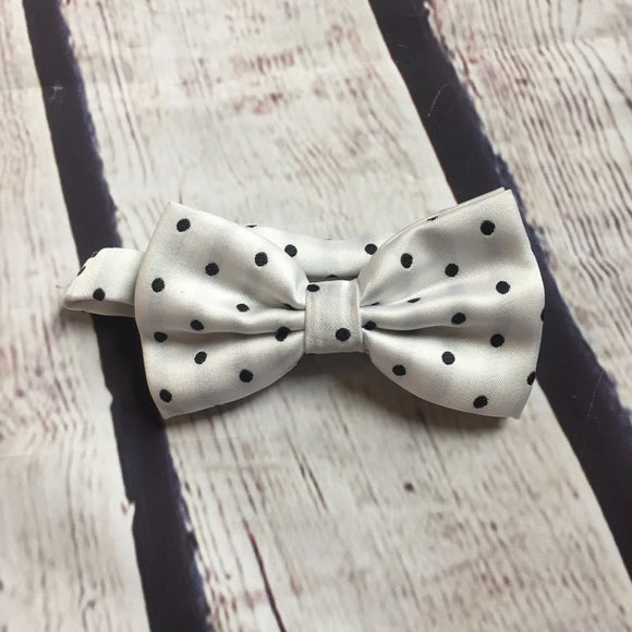 Boys Bow Tie - White Dot